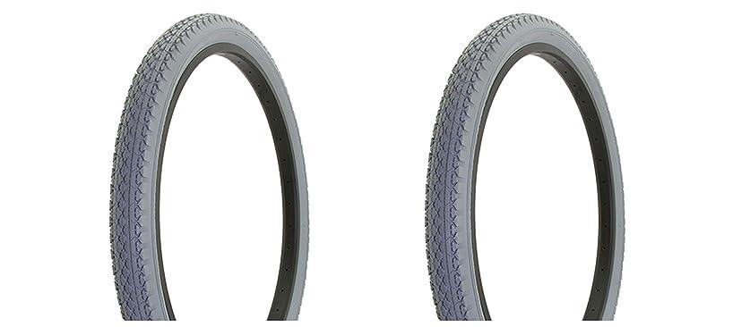 ビザスラダム非公式Lowrider 自転車用タイヤ デュロ 26インチ x 2.125インチ グレー/グレー サイドウォール HF-133 ビーチクルーザータイヤ