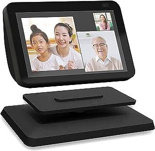 【YiOne】Show 8 スタンド【第2世代】滑り止め アルミ製デスクトップスタンド 360度回転 調整可能なスタンド ブラケット 簡単なインストール/安定したサポート (ブラック)