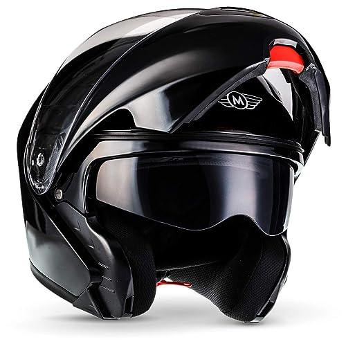 Motorradhelm Helm M L XL Silber Rollerhelm Integral Quadhelm Motorrad Moped