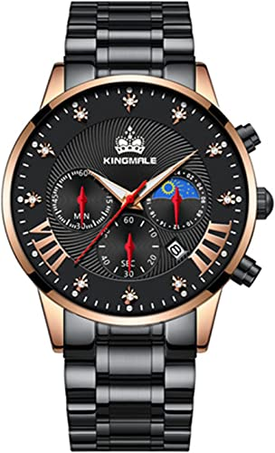lowest Stainless Steel Metal online sale Automatic Mens Watches wholesale Moon Phase Chronograph Business Dress Watches for Male online sale