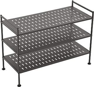 SMIO 3-Tier Shoe Rack Shoe Tower - Shoe Storage Organizer Shelf Stackable Cabinet