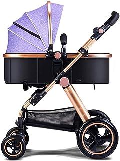 YQLWX Babyvagn, Baby Barnvagn Barnvagn Barnvagn Buggy Barn Fällbara Kids Barnvagnar Travel System Fällbar Med Stötdämpare ...