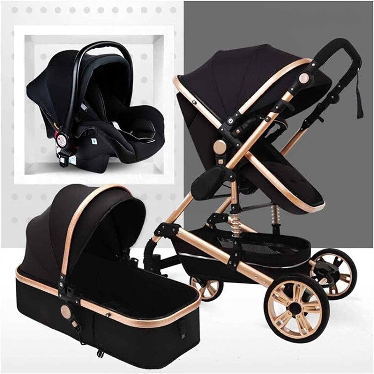 Yuansr 3 in 1 Baby Latest item Luxury Foldable Carriage Ba Oakland Mall Stroller