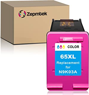 ZepmTek Remanufactured Ink Cartridge Replacement for HP 65XL 65 XL Used with Envy 5052 5055 5070 5000 5012 5010 5030 5014 ...