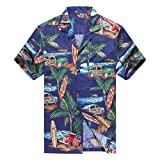 Hecho en Hawaii Camisa Hawaiana de los Hombres Camisa Hawaiana 4XL Coche de la Tabla de Surf de...