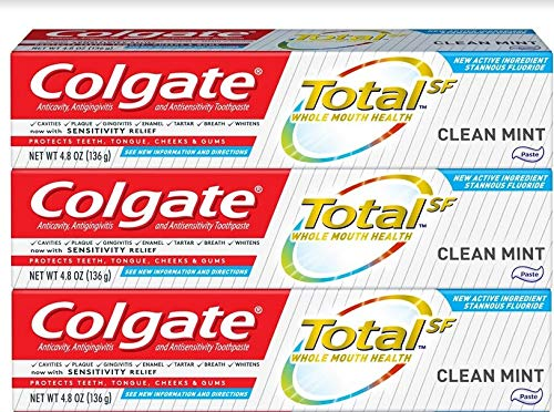 Colgate Total Manufacturer direct delivery Toothpaste Clean Genuine Free Shipping Mint oz Pac Paste Formula 4.8