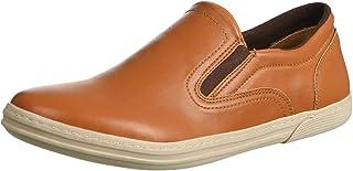 Salerno Faux Leather Side Elastic Band Slip-On Shoes for Men