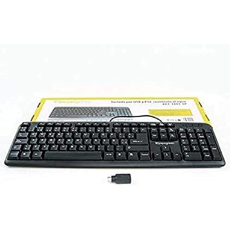 Powergreen KEY-1001-SP Teclado Español Ps2-Usb Color Negro