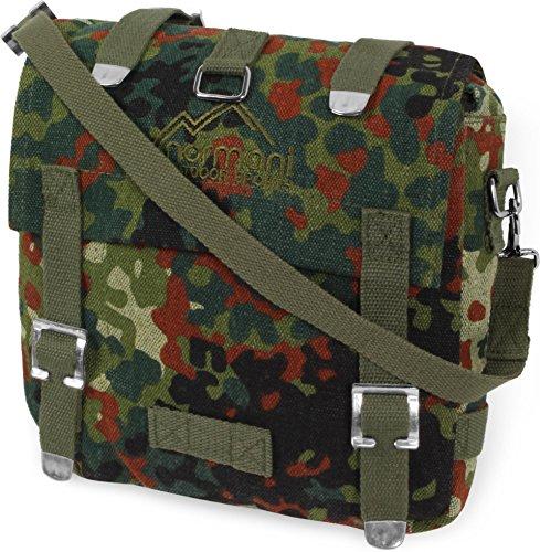 normani Bundeswehr Kampftasche klein Umhängetasche Canvas Bag Farbe Flecktarn