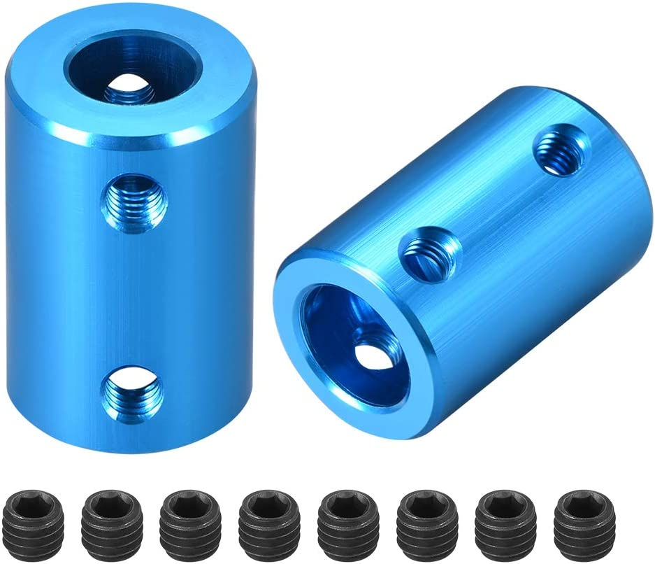 uxcell Dedication Limited time cheap sale 8mm to 10mm Bore Rigid L25XD16 Set Coupling Aluminu Screw