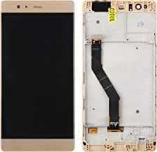 Screen Replacement for Huawei P9 Plus, Compatible with VIE-L29 VIE-L09 VIE-AL10 LCD Display Touch Screen Replacement Digitizer Assembly with Repair Tools Kits (Gold with Frame)