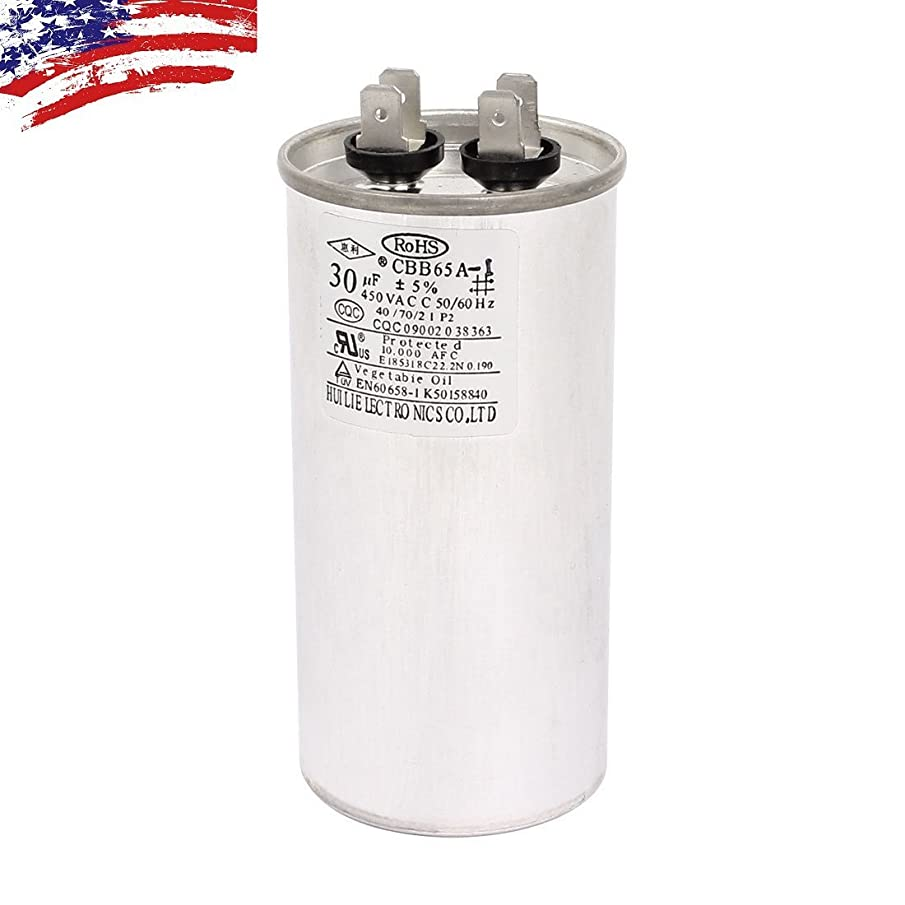 AC 450V 30uF 50/60Hz Air Conditioner Motor Run Capacitor CBB65A-1 CBB65