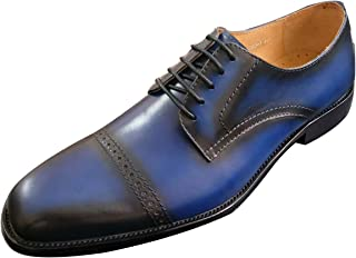 0662eadb69a1 ROYAL WIND Men s Handmade Leather Modern Classic Lace up Leather Lined  Perforated Dress Oxfords Shoes