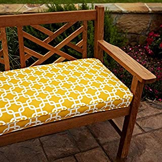 penelope red 60 inch outdoor bench cushion
