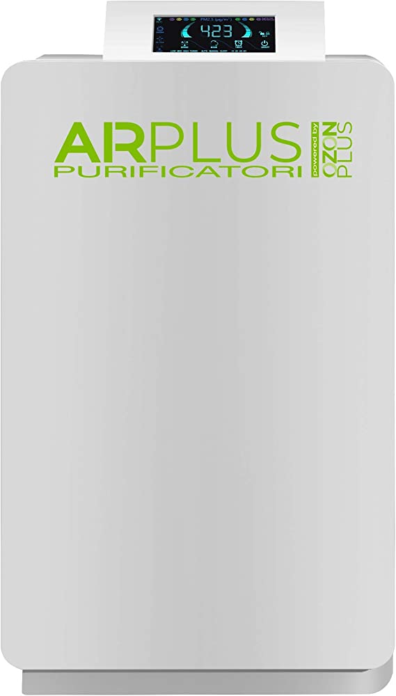 Ozonplus,purificatore d`aria airpk180 3in1 (ozono + ionizzatore + uvc) per ambienti fino a 100m2, filtro hepa