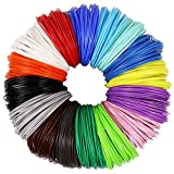 3D Pen PLA Filament Refills 1.75mm, 16 Colors, 10 Foot per Color, Total 160 Foot