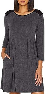 Modal Sleep Shirt, S, Charcoal Heather