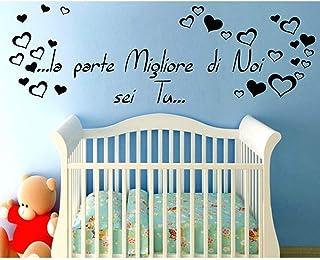 Adesivo Murale Wall Stickers Frase Citazione Dedica Figli Amore la Parte migliore di noi sei Tu Adesivi Murali Decorazione...