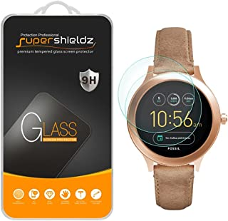 (2 Pack) Supershieldz for Fossil Q Venture Gen 3 Smartwatch Tempered Glass Screen Protector, (Full Screen Coverage) 0.33mm, Anti Scratch, Bubble Free