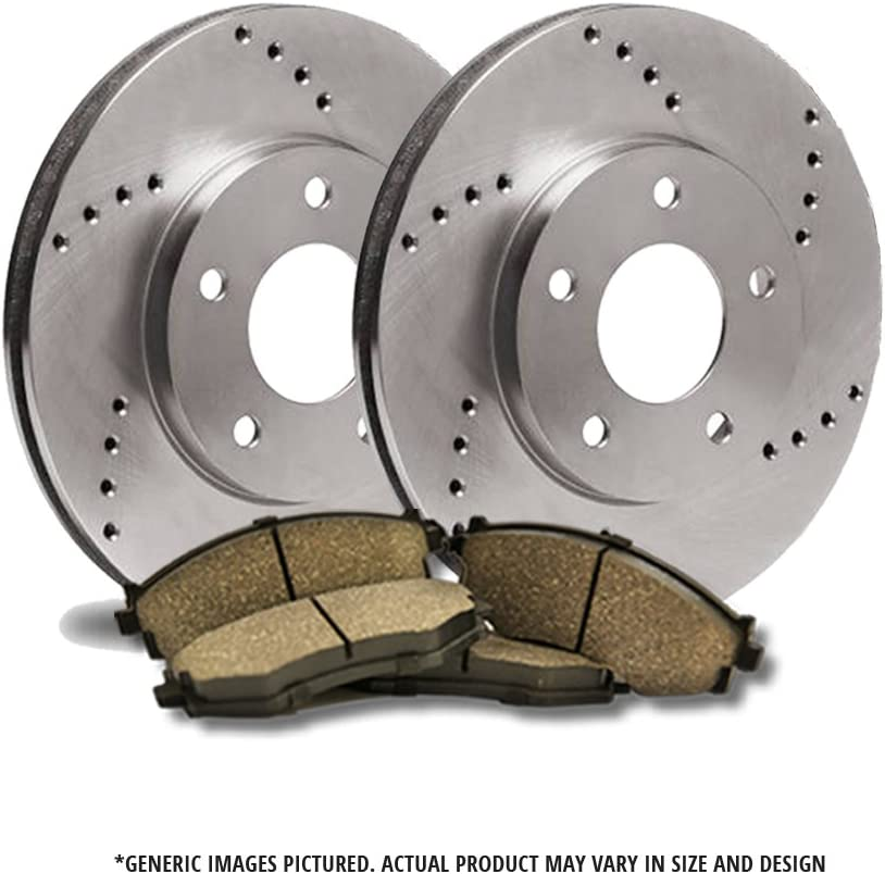 Front Brake Kit - Award-winning store 2 R Duty Extra-Life Heavy Cross-Drilled Mail order