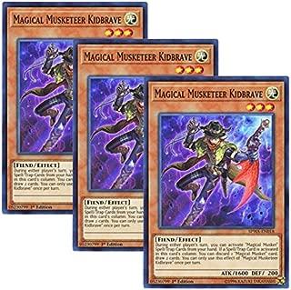 【 3枚セット 】遊戯王 英語版 SPWA-EN018 Magical Musketeer Kidbrave 魔弾の射手 ザ・キッド (スーパーレア) 1st Edition