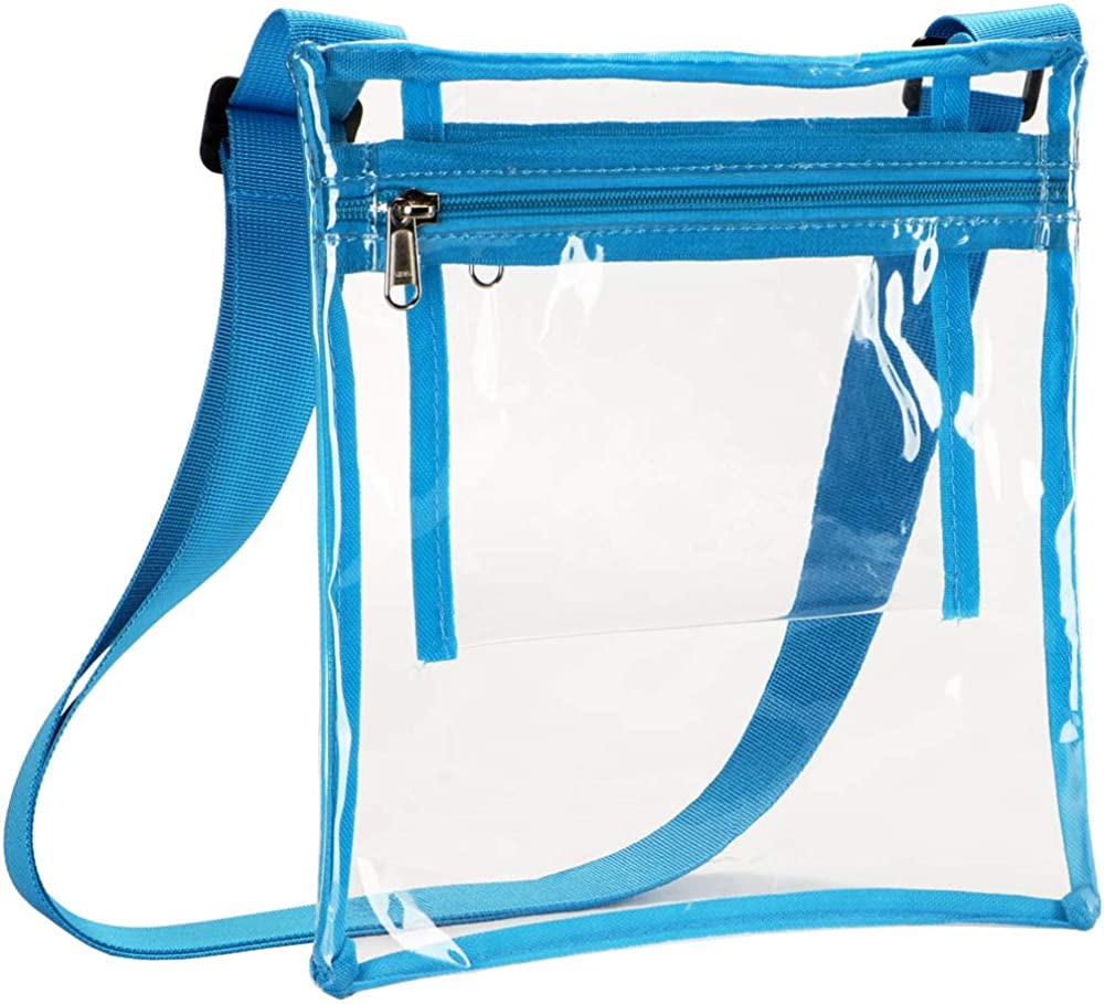 HULISEN Clear Crossbody Purse Bag, Stadium Approved, with Extra Inside Pocket
