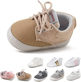 Tutoo Infant Baby Boy Girl Shoes Infant Boy Girl Fashion Sneaker Mesh Shoes Soft Sole Toddler First Walkers Candy Shoes Breathable Newborn Crib Shoes
