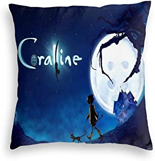 YGHAPPY Coralines Cat Velvet Pillowcase Cover Decor Durable Throw Pillows Case Square Cushion for Skin Home Bedroom 24