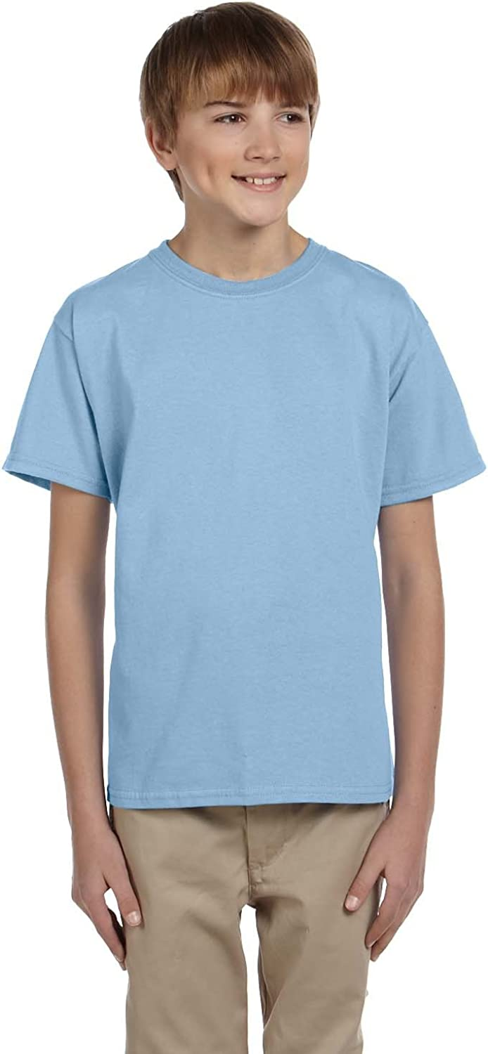 Product of Brand Gildan Youth Ultra Cotton 6 oz T-Shirt - Light Blue - XS - (Instant Savings of 5% & More)