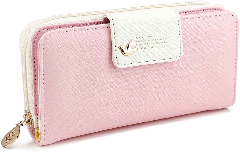 GEARONIC TM Fashion Lady Women PU Leather Cute Buckle Clutch Wallet Long Card Holder Case Purse Handbag