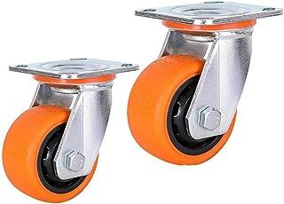 4 stuks meubelwielen met zwenkwielen voor zware belasting, 200 mm, verzinkt, nylon, universele wielen, industriële standaa...