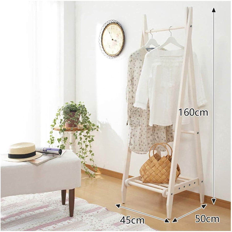 ZCYX Coat Rack-Floor Solid Wood Simple Coat Rack Hanger Wall Hanging Bedroom Hanger Clothes Rack Floor Rack Exquisite Coat Rack - Hanger Hooks (color   B)