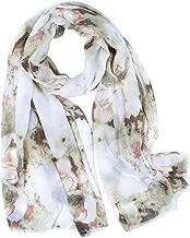 TIFENNY Daily Wear Scarf for Women New Ladies Splice Leopard Print Chiffon Wrap Shawls Headband Soft Long Scarf