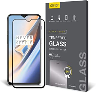 Olixar for OnePlus 6T Screen Protector - Tempered Glass 9H Rated - Shock Protection - Easy Application, Card and Cleaning Cloth Included - Clear