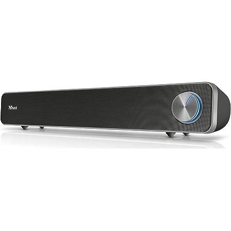 Trust Arys Soundbar Dal Design Raffinato e Potenza In Uscita di 12 Watt, USB, Nero