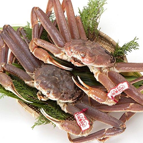 日本海市場 贈答用タグ付き 特上松葉ガニ(ズワイガニ)姿 特大サイズ2枚(活2kg前後)「本物」の松葉ガニを産地直送でお届けします 活ガニ お歳暮 ギフト対応
