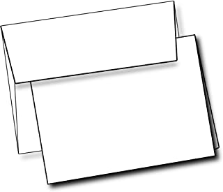 """Heavyweight White Blank Cards With White Envelopes 5""""x 7"""" Folded Greeting Cards Box Of 40 Blank Cards And Envelopes Printable Note Cards With Corresponding Envelopes"""