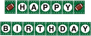 CC HOME Super Bowl Football Party Decoration,Football Happy Birthday Banner football Touchdown Bunting Garland for Kids,Boys,Home,Gender Reveal,1ST Birthday Party,Baby Shower Decoration