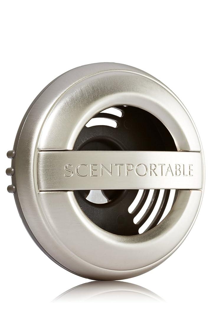 エレベーター前述のヘビー【Bath&Body Works/バス&ボディワークス】 車用芳香剤 セントポータブル ホルダー (本体ケースのみ) ブラッシュピューター Scentportable Holder Brushed Pewter Vent Clip [並行輸入品]