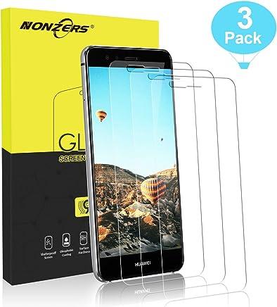 62f9375e11c NONZERS 3 Pack Vetro Temperato per Huawei P10 Lite Pellicola Vetro Durezza  9H AntiGraffio Antiolio Senza