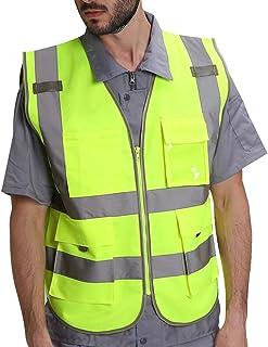 Islander Fashions Haute Visibilit Scurit Excutive Gilet Hommes Vtements De Travail Rflchissant Pantalon S 5XL