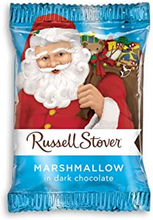 Russell Stover Dark Chocolate, Marshmallow Santa, 1 Ounce, 36 Count