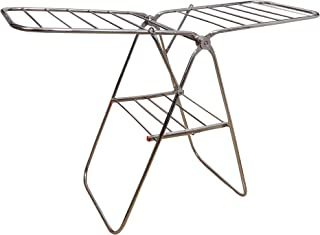 Homwell Heavy Duty Stainless Steel Foldable Butterfly Type Cloth Stands for Drying Clothes Double Rack Cloth Dryer Stand (...