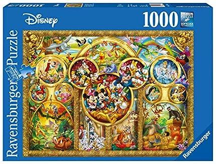 Ravensburger Puzzle 1000 Piezas, Lo Mejor de Disney, Puzzle Disney, Rompecabezas Ravensburger de Alta Calidad, Jigsaw Puzzle, Edad Recomendada 12+