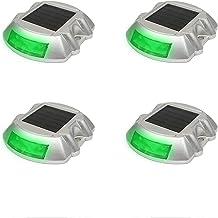 MEILEQI 4 Stks Solar Oprit Lichten Marker Lights IP67 Waterdichte Zonne Aangedreven Outdoor Landscaping Lichten Voor Oprit...