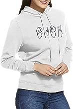 Women's Hooded Sweatshirt No Pockets Dolan Twins Oversized Classic Print Casual White