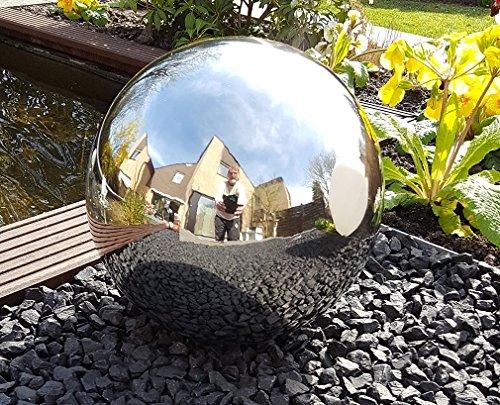 garten-wohnambiente Kugel aus Edelstahl 50 cm poliert Dekokugel Dekorationskugel Edelstahlkugel