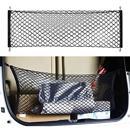 Gvbest Car Rear Cargo Trunk Storage Organizer Net,Hook Up Elastic Envelope Luggage Net Truck Bed Storage (36 'x 16') Universal Fit for Cars SUV and Trucks Small Vans