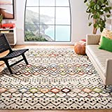 Safavieh Amsterdam Collection AMS108K Southwestern Bohemian Ivory and Multi Area Rug (8' x 10')