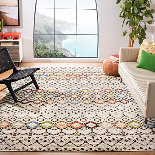 Safavieh Amsterdam Collection AMS108K Moroccan Boho Non-Shedding Stain Resistant Living Room Bedroom Area Rug, 9